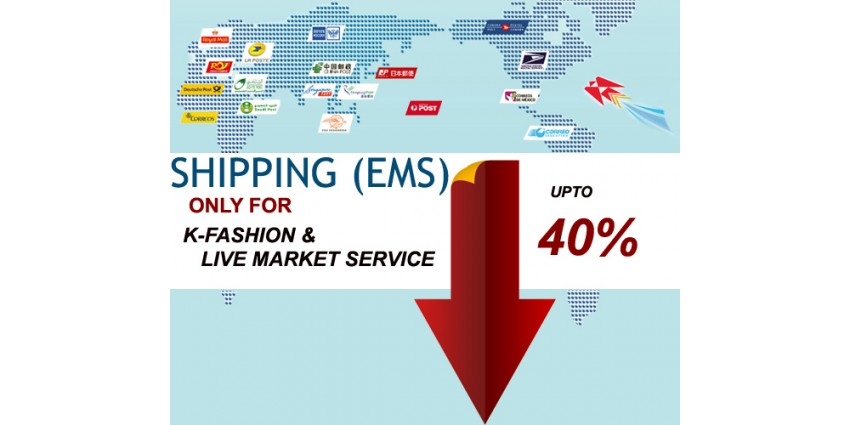 EMS Shipping for Korean Fashion and Market service